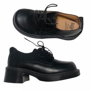 NWT Doc Martens Oxford Chunky Heels Shoes
